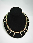 CR-112 Nicoya Teeth, Stone and Shell Choker